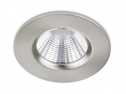 LED Einbaustrahler Spot Decke rund dimmbar Nickel matt 5, 5W Deckenbeleuchtung