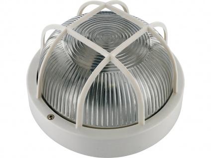 Kellerleuchte Außenleuchte weiß, E27 Kellerlampe Feuchtraumleuchte Wandleuchte