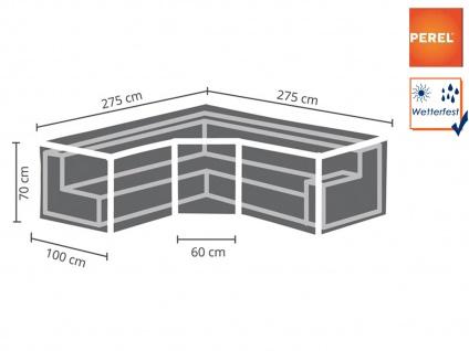 Schutzhülle Abdeckung Trapez für Garten Loungemöbel, 275x275cm Abdeckplane Folie