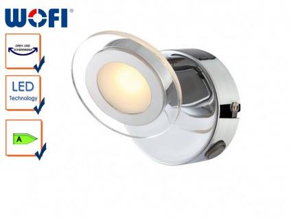 Runde LED-Wandleuchte mit Ein-/Ausschalter, Wofi-Leuchten