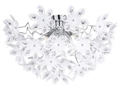 LED Deckenleuchte dimmbar Lampenschirm mit Kristall Blüten & Steinen aus Acryl - Vorschau 2