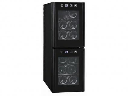 Profi Weinklimaschrank 12 Flaschen 2 Temperatur Zonen 7-18°C Weinkühlschränke - Vorschau 2