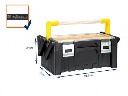 Werkzeugkiste, Werkzeugkasten, Polypropylene, abnehmbare Fächer, 45, 5x24x20cm