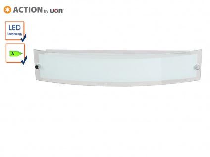 LED Deckenlampe gebogen, Glas weiß / Rand klar, Action by Wofi