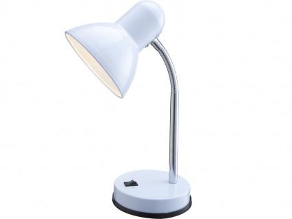 Flexible Tischlampe BASIC in Weiß mit LED - Moderne Schreibtischlampe fürs Büro