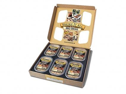 BBQ Räucherspäne Räuchermischung mit Gewürzen - 6er Geschenk-Set - Vorschau 2