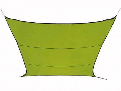 Wasserabweisendes Sonnensegel rechteckig 6m² grün, Sonnenschutz Terrasse Balkon