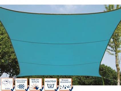 Sonnensegel Regenschutz PEREL, Himmelblau, 500 x 500 cm, Wasserabweisend