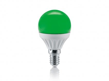 Nicht dimmbares LED Leuchtmittel mit 4W & E14 Fassung Energielampe grün aus Glas