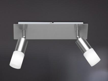 Moderne Deckenleuchte ALVIS 2-flammig, Nickel matt, ACTION