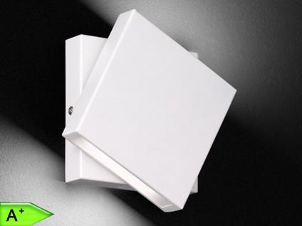 Weiße LED-Wandleuchte 10W, drehbar, 14x14 cm, Schalter, Trio-Leuchten