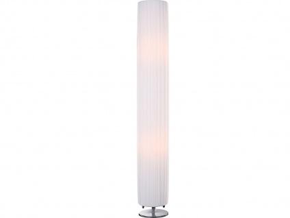 Globo Stehleuchte BAILEY rund, Fuß Chrom, Stehlampe Wohnzimmer modern weiß
