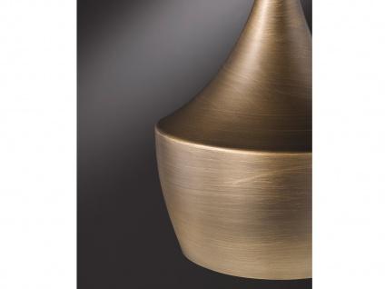Retro LED Pendelleuchte mit Metall Schirm in Braun Ø 25cm - Esstischlampen - Vorschau 5