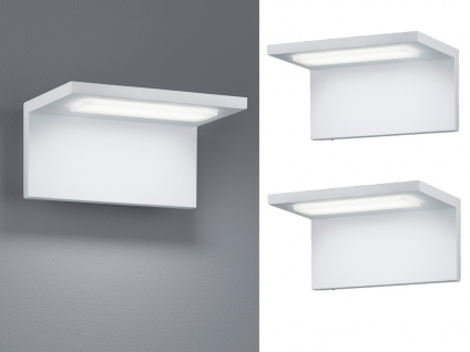 Moderne LED Außenwandleuchten in Weiß - 2er Set Terrassenbeleuchtung Wandlampen