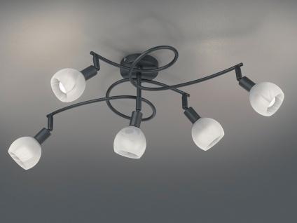 Mehrflammige LED Deckenleuchte Strahler Schwarz Alabaster für WohnzimmerLampen