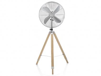 Oszillierender Standventilator mit Holzstativ höhenverstellbar Ø 45cm fürs Büro - Vorschau 3