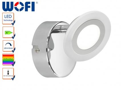 LED Wandspot mit Farbwechsel, Fernbedienung, GEMMA, Wandleuchte Wandlampe Spot