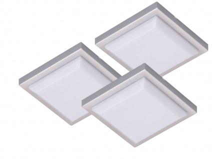 SET: 3 LED-Leuchten quadratisch mit je 1, W extra flach ideal für Vitrinen u.a.
