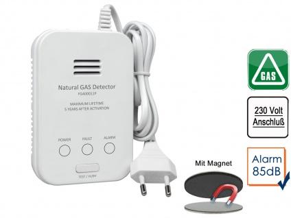 Gasmelder für Methan Gaswarnmelder mit Zuleitung & Magnetmontage 85dB Alarm