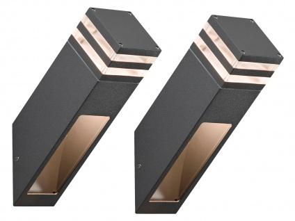 2er-Set Wandleuchten MASSA anthrazit, 8 Watt HP-LED, 800 Lumen, IP54 - Vorschau 2