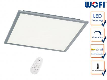 Flache LED Deckenleucthe 60x60 cm Fernbedienung für Dimmer & Farbtemperatur