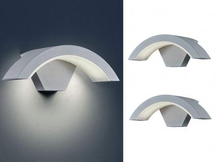 LED Außenwandlampe mit Bewegungsmelder in Titan 2 Außenleuchten Hausbeleuchtung
