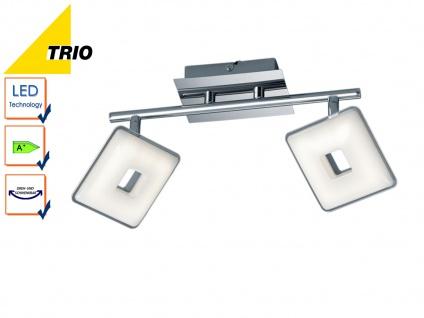 LED Deckenleuchte Balken PONTIUS, Chrom, Acryl weiß, 2x 3, 8W LED, L. 31cm, Trio