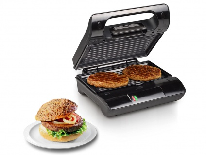 Kontakt Grill Snackmaker auch für Panini & Sandwich mit abnehmbaren Platten - Vorschau 1