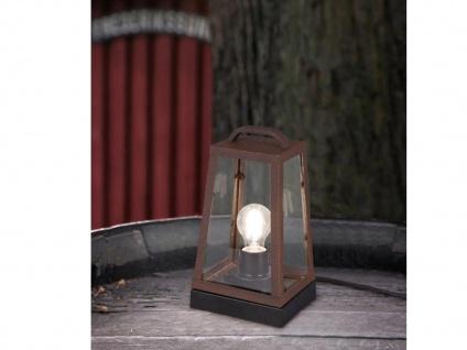 LED Außentischleuchte in Rostoptik eckige Laterne Bodenlaterne Bodenlampe Garten