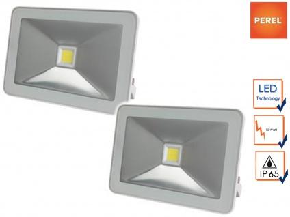 2er Set 10W LED Strahler Baustrahler weiß, Scheinwerfer Arbeitsleuchte Fluter