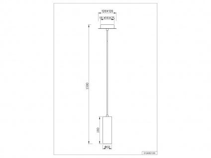 LED Hängeleuchte - weißes Pendel für Wohnraum, Esszimmer, Flur, Bar & Küche, dimmbar - Vorschau 5
