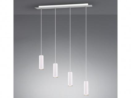 Dimmbare Innenlampe, weiß mattes Balkenpendel für Wohnraum, Esszimmer mit 4 LEDs