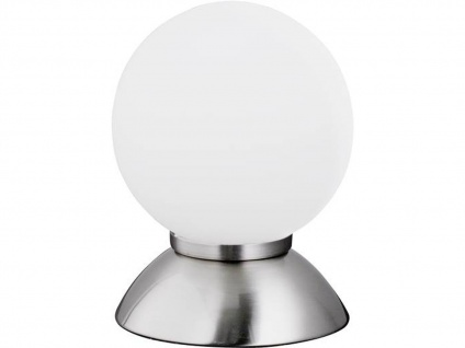 Kugel Tischleuchte PLUTO Nickel matt Glas opal weiß Action by Wofi - Vorschau 2