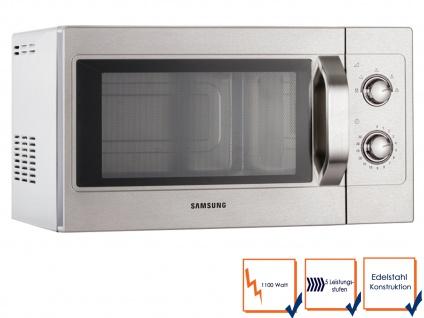 Samsung Profi Edelstahl-Mikrowelle Mikrowellengerät 26 Liter 1100 Watt