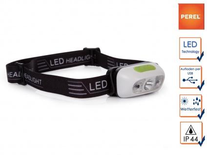 Wiederaufladbare Stirnlampe Kopflampe Outdoor mit weißen CREE LEDs, SOS Funktion
