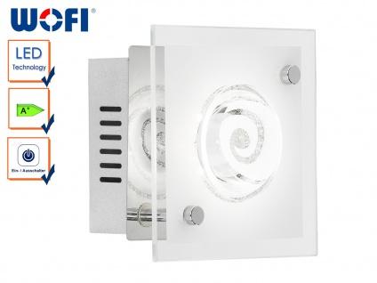LED Wandleuchte TYRA, Chorm, 13x13cm, Wandlampe Wandleuchte LED Designerlampe
