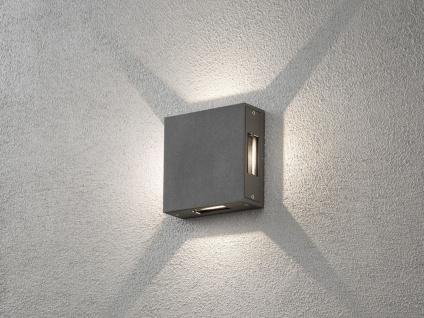 LED Außenwandleuchte ALU anthrazit, Lichtstrahl einstellbar Fassadenbeleuchtung