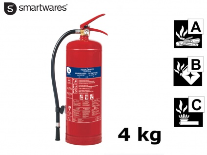 Feuerlöscher Pulverlöscher 4kg, Brandschutzklasse A B C, Kfz Handfeuerlöscher