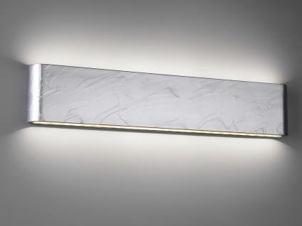 LED Außenwandlampe mit UP and DOWN Zinkoptik Breite 46, 5cm - Hausbeleuchtung
