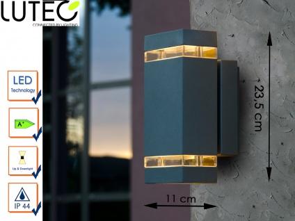 LED Außenwandleuchte Aluguss eckig H. 23, 5 cm Fassadenbeleuchtung Wandleuchten