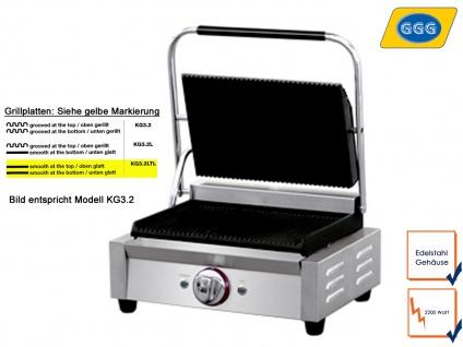 Profi Edelstahl Kontaktgrill 2200W Platten glatt, Gastro Elektro Mutli Grill