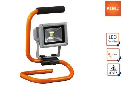 10Watt LED Baustrahler tragbar, Sicherheitsglas, Fluter Arbeitsscheinwerfer IP65