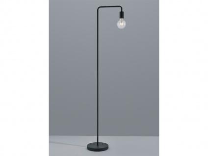 Schöne Vintage Stehleuchte mit FILAMENT LED aus Metall in schwarz matt, H 149cm