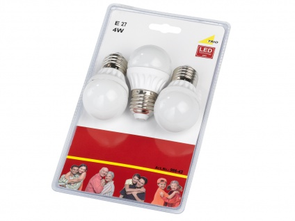 Nicht dimmbares E27 LED Leuchtmittel 3er SET warmweiß 4W & 320lm, tropfenförmig - Vorschau 3