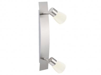 2flammiger Wandstrahler mit Schalter & LED Wandleuchte Lampenschirme Metall weiß