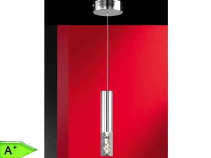 1-fl. LED-Pendelleuchte, Nickel / Acryl klar mit Blasen, Honsel-Leuchten