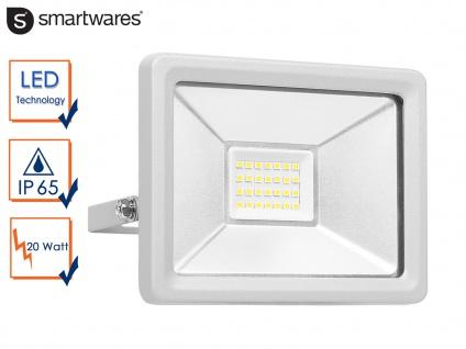 20W Strahler grau Baustrahler LED neutralweiß Scheinwerfer Arbeitsleuchte Fluter
