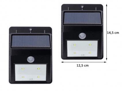 Solar LED Treppenlicht 2er SET Orientierungslicht für Außenbereich, 14, 5x12, 5cm