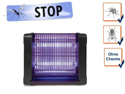 Insektenvernichter 360°, Stechmückenfalle 2x 6W UV Licht, Bereich 30m²