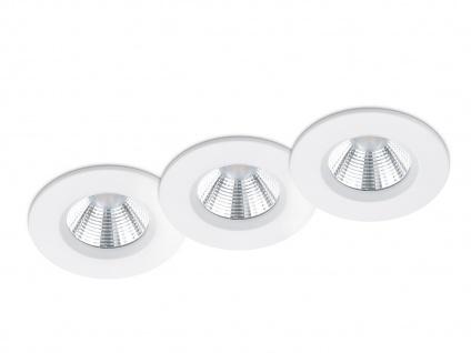 LED Einbaustrahler Decke 3er Set rund dimmbar Weiß matt 5, 5W - Deckenleuchten